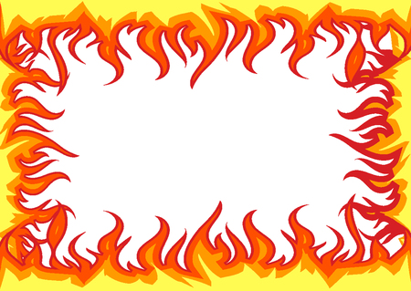 Brand vlammen grens Vector Illustratie