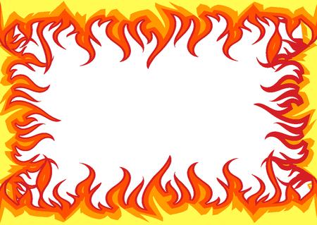 Ramka płomieni ognia Ilustracje wektorowe