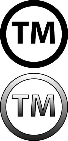 Símbolo de marca comercial Ilustración de vector