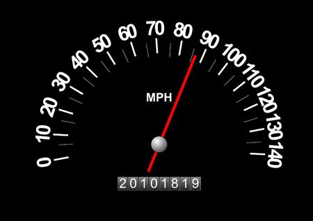 Speedometer Graphic Illustration