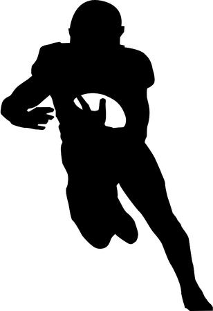 american Footballer silhouette Stock Vector - 115725596