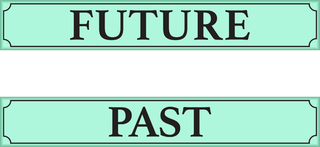 Past and Future signs Иллюстрация