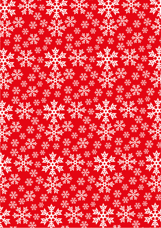 Snowflakes on Red background Иллюстрация