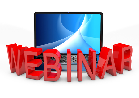 Webinar with Laptop Computer