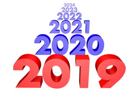 2019 and future 3D render Zdjęcie Seryjne