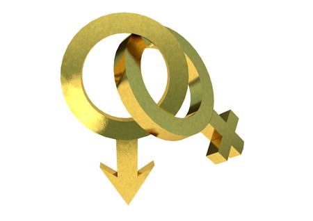 Male and Female symbols 3D render Zdjęcie Seryjne
