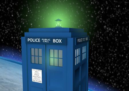 Police Box Time Machine Zdjęcie Seryjne