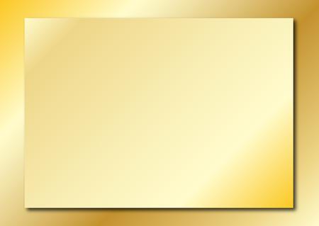Gold Plaque Ilustracja