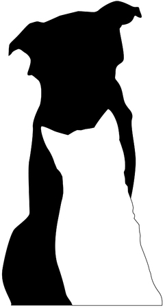 Dog and cat silhouette Illustration