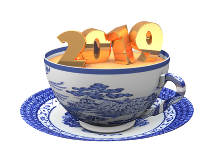 Tea Cup with 2019