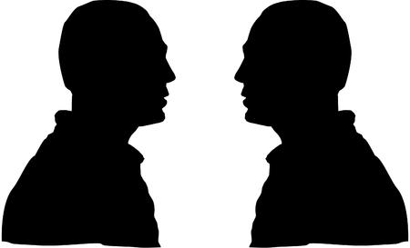 Men silhouette Ilustracja