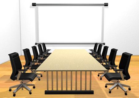 Boardroom with blank screen Zdjęcie Seryjne