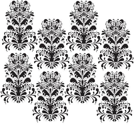 Damask repeat pattern
