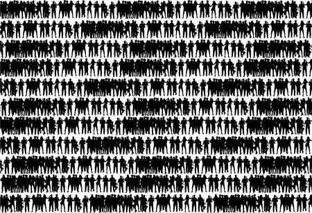 Crowd of people Ilustracja