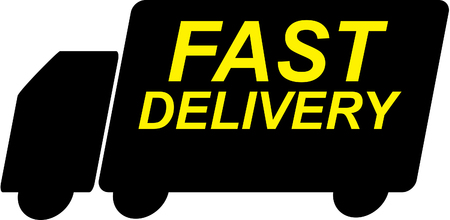 Fast delivery truck logo