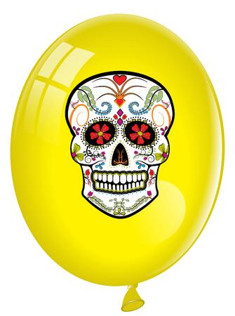 Candy Skull balloon Ilustracja