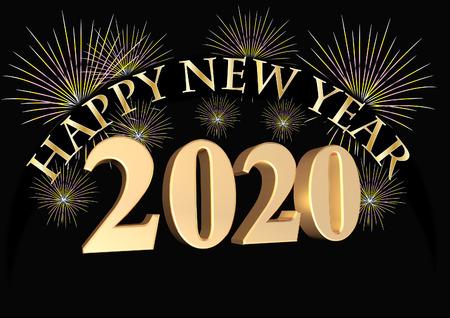 Happy New Year 2020 Banco de Imagens - 115725667
