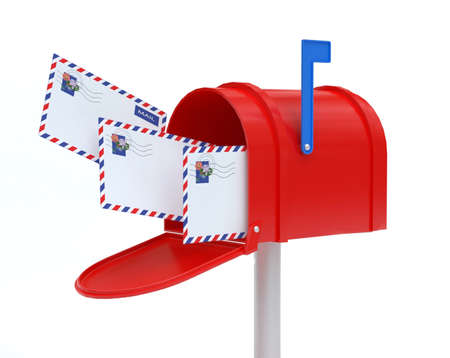 Mail Box with mail Stock Photo