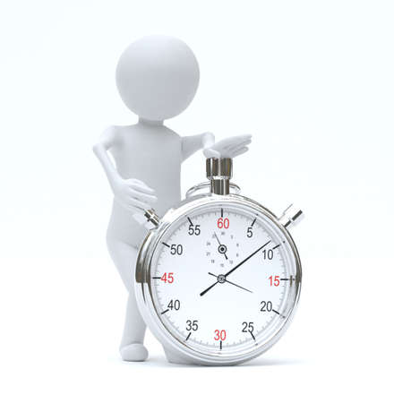 Small person with stopwatch Standard-Bild