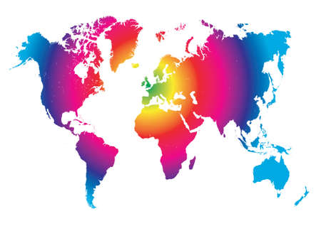 World map concept illustration