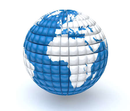 Globe 3D stylised model