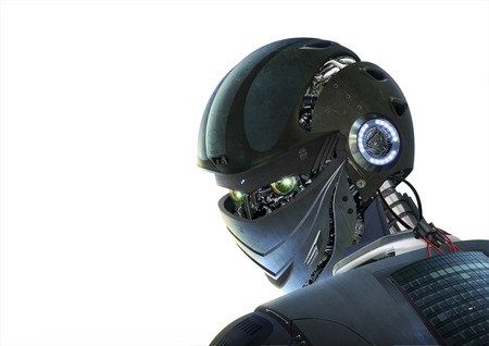 photoshop: This is what I created in Photoshop concept robot. Stock Photo