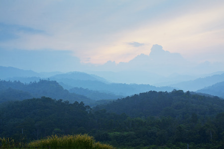 ridgeline: Beautiful mountains landscape locate at pahang,Malaysia