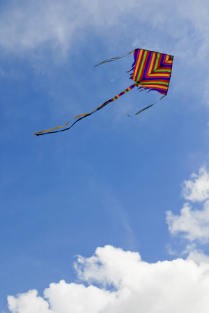 bloating: kites colors in the cloud sky Stock Photo