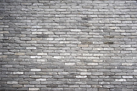 blank wall: Grey brick wall