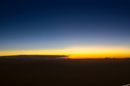rise to the top: Beautiful sunset above the clouds