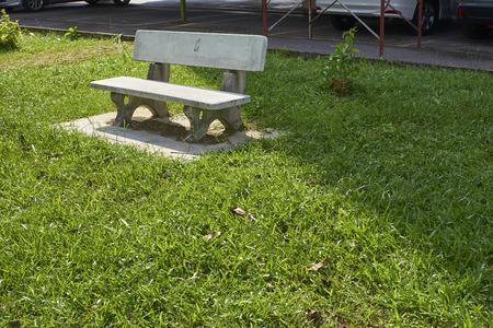 granite park: Beautiful granite bench in a park setting.