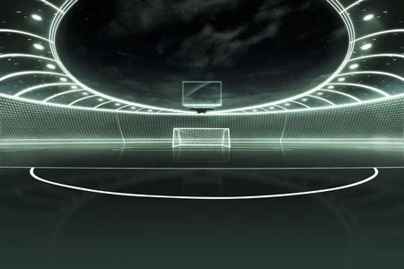 football stadium: Stadium neon