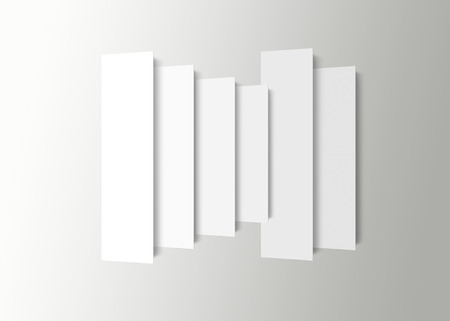 chain reaction: overlapping White squares isolated over a white background
