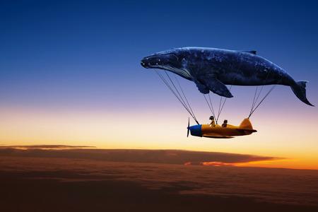 I belive je peux voler, silhouette Banque d'images - 44181715