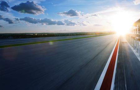 Motie wazig racetrack, koud mood