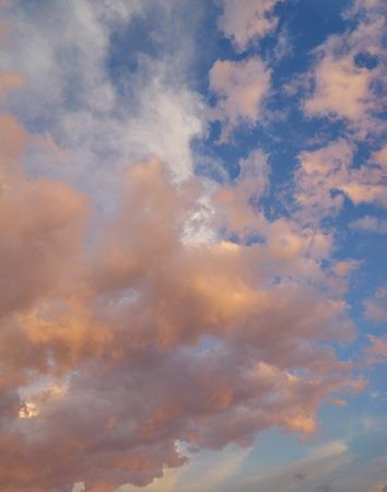 Beautiful orange cloudscape sky