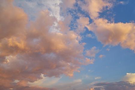 cloudscape: Beautiful orange cloudscape sky