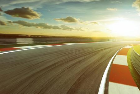 Motion blurred racetrack,vintage mood
