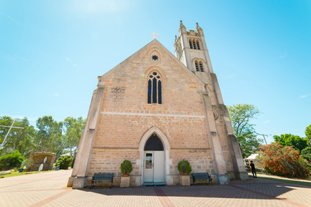 perth: St. Patricks Church in York Town .  York is the oldest inland town in Western Australia . Stock Photo