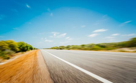 perth: asphalt road in perth