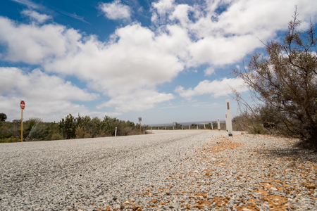 dream land: Road to nowhere with blue sky and dramatic cloudy Stock Photo