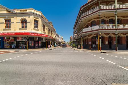 corner house: PERTH, AUSTRALIA - November 5, 2016 : Fremantle city building street scene  ,Fremantle, Western Australia.