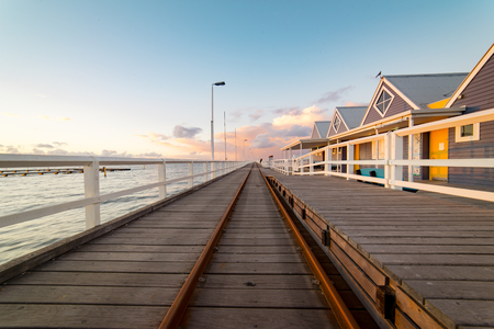 busselton: Sunset in Busselton jetty, Western Australia