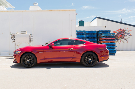 mustang gt: PERTH, AUSTRALIA - November 6, 2016 : Ford Mustang GT parked in the Perth city  .