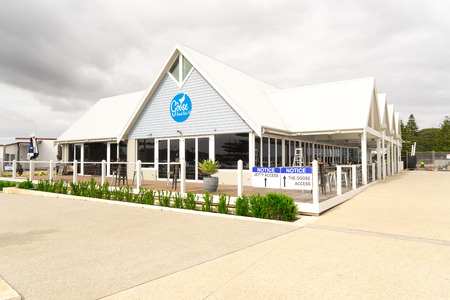 busselton: PERTH, AUSTRALIA - NOVEMBER 11 : Restaurant on Busselton Jetty, Western Australia .