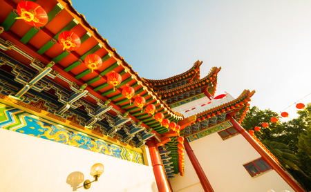 Exterior of a Chinese Temple - Namely Thean Hou Temple in Kuala Lumpur