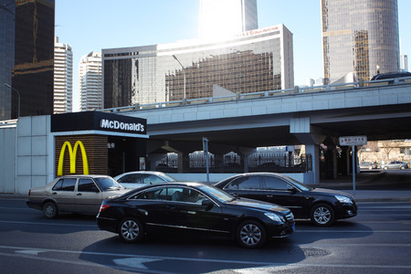 BEIJING-October 10 : McDonalds outlet on October 10, 2011 in Beijing. It took McDonalds 19 years to reach 1,000 restaurants in China and the company plans to double the number to 2,000 by 2013.