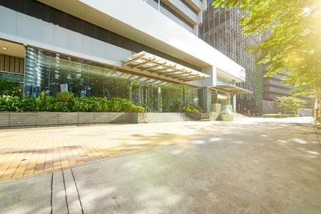 Entrance of modern office building ,Jalan Ampang , Kuala Lumpur , Malaysia .