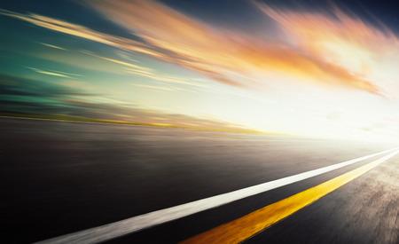 formula one: Motion blurred racetrack,warm mood