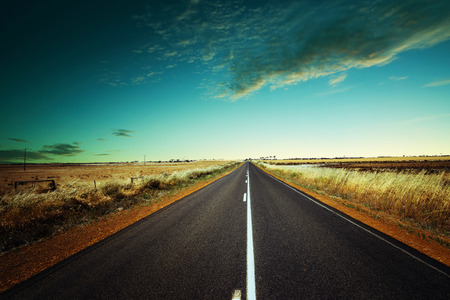 Asphalt road on Westen Australia . Stock Photo